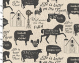 On The Farm - Silhouettes from 3 Wishes Fabric