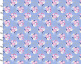 Unicorn Utopia - Floral Blue Glitter from 3 Wishes Fabric