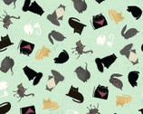 Snarky Cats - Kitten Mint by Dan DiPaolo from Clothworks Fabric