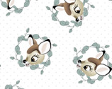Bambi - Bambi Badge White by Disney from Springs Creative Fabric