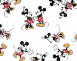 Mickey and Minnie Mouse - Vintage Scattered White by Disney from Springs Creative Fabric