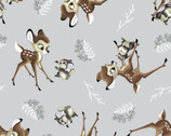 Bambi - Bambi Thumber Toss Gray by Disney from Springs Creative Fabric