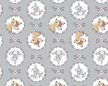 Bambi FLANNEL - Thumber Bambi Wreath Grey by Disney from Camelot Fabrics