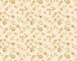 Daisy Mae - Mini Mai Yellow Peach Pink from Poppie Cotton Fabric