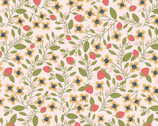 Daisy Mae - Berry Blossoms Pink from Poppie Cotton Fabric