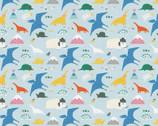 Animal Alphabet - Dinosaurs Blue by Suzy Ultman from Paintbrush Studio Fabrics
