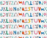 Animal Alphabet - Alphabet Stripe Multi by Suzy Ultman from Paintbrush Studio Fabrics