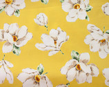 Plants Southern - Magnolia Floral Yellow from Cosmo Fabric