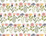 Daisy Mae - Fresh Cut Flowers White from Poppie Cotton Fabric