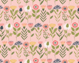 Daisy Mae - Fresh Cut Flowers Pink from Poppie Cotton Fabric