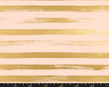 Zip Metallic - Stripes Pale Peach Pink from Ruby Star Fabric
