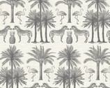 Fern Garden - Animals Palm Trees from Andover Fabrics