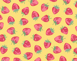 Strawberry Jam - Strawberry Yellow from Andover Fabrics