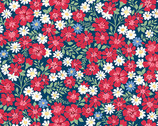 Strawberry Jam - Flowerful  Vines Blue from Andover Fabrics