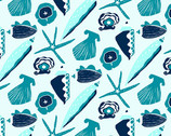 By The Sea - Shell Teal from Andover Fabrics