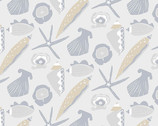 By The Sea - Shell Grey from Andover Fabrics