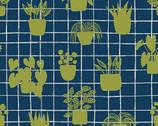 Home - House Plants Cobalt Blue from Andover Fabrics