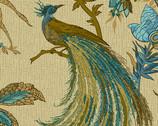 Rochester - Jacobean  Birds Peacock Teal from Andover Fabrics