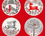Scandi - Scandi Circles Multi PANEL 23 Inches from Makower UK  Fabric