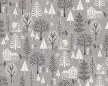 Scandi - Trees Grey from Makower UK  Fabric