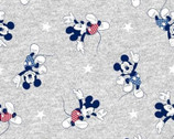 Mickey Mouse JERSEY KNIT - Gray Toss Stars from Springs Creative Fabric
