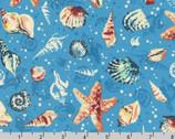Wishwell Sunset Coast - Seashells Lagoon by Vanessa Lillrose and Linda Fitch from Robert Kaufman Fabrics