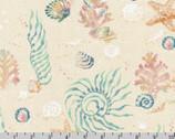 Wishwell Sunset Coast - Sea Creatures Aquamarine by Vanessa Lillrose and Linda Fitch from Robert Kaufman Fabrics