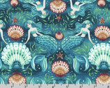 Wishwell Sunset Coast - Mermaids Pacific by Vanessa Lillrose and Linda Fitch from Robert Kaufman Fabrics