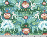Wishwell Sunset Coast - Mermaids Teal by Vanessa Lillrose and Linda Fitch from Robert Kaufman Fabrics