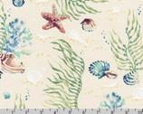 Wishwell Sunset Coast - Sea Creatures Sea Glass by Vanessa Lillrose and Linda Fitch from Robert Kaufman Fabrics