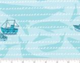Pacific Wanderings - Ships Waves Aqua from Moda Fabrics