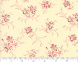 Nancys Needle - Floral Natural Cream Red by Betsy Chutchian from Moda Fabrics