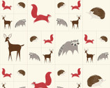 Bramble - Animal Multi Red PANEL 36 Inches by Gingiber from Moda Fabrics