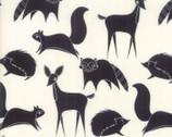 Bramble - Animals Cream Black by Gingiber from Moda Fabrics
