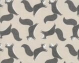 Bramble - Animals Stone Grey by Gingiber from Moda Fabrics