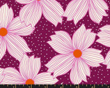 Crescent - Floral Purple Velvet from Ruby Star Fabric