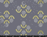 Darlings - Floral Dandelion Grey from Ruby Star Fabric