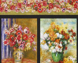 Renoir - Floral Vase Nature PANEL 23 Inch from Robert Kaufman Fabric