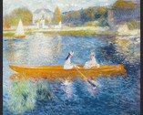 Renoir - Lady Boat Water PANEL 23 Inches from Robert Kaufman Fabric