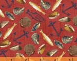 Fresh Catch - Seafood Red by Whistler Studios from Windham Fabrics