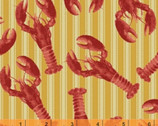 Fresh Catch - Lobsters Tan by Whistler Studios from Windham Fabrics