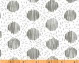 Homeward - Chicken Scratch Circle Dash White by Natalie Barnes  from Windham Fabrics