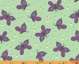 Gypsy - Butterfly Mint Green by Jessica VanDenburgh from Windham Fabrics