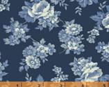 Richmond C. 1862 - Monotone Floral Blue Nancy Gere from Windham Fabrics