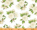 Love Letters - Peonies White by Shannon Christensen from Windham Fabrics
