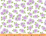 Love Letters - Mini Roses Lavender Purple by Shannon Christensen from Windham Fabrics