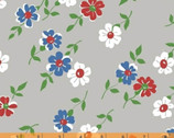 Bounce - Floral Gray by Allison Harris from Windham Fabrics