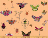 Curio - Bugs Peach Pink by Betsy Olmsted from Windham Fabrics