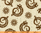 Coyote Canyon - Lizards Brown Tan by Whistler Studios from Windham Fabrics