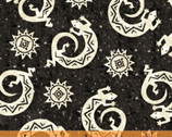 Coyote Canyon - Lizards Black by Whistler Studios from Windham Fabrics